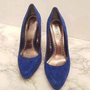 Charles David blue suede pumps